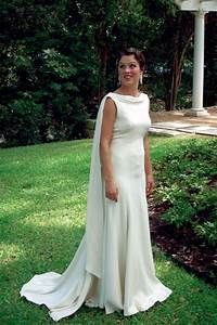 hand made backless silk crepe trumpet bridal gown by With silk crepe wedding dress