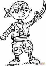 Pirate Coloring Pages Underpants Pirates Dressed Ship Printable Child Story Dot Games sketch template