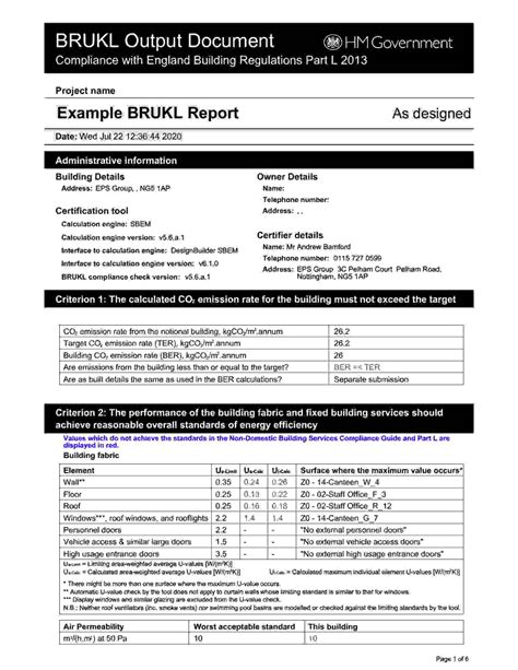 SBEM Calculations & BRUKL Reports - Free Quotes - EPS Group