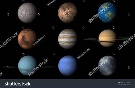Render Planets Order First Last Including Stock Photo ...