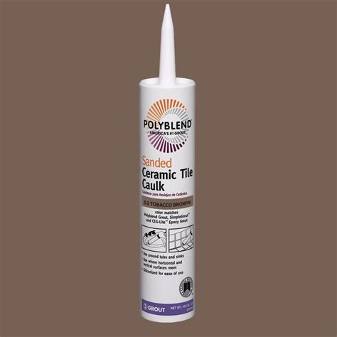Polyblend Ceramic Tile Caulk by Custom Building Products Polyblend 52 Tobacco Brown 10 5