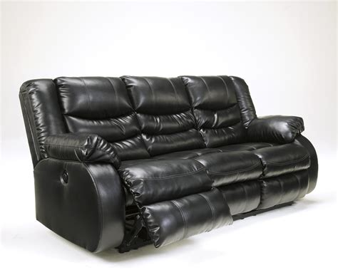 black leather reclining sofa black leather reclining sofa by ashley furniture