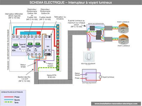 branchement electrique d une le branchement d un interrupteur avec voyant ou t 233 moin lumineux