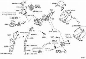 2017 Toyota Rav4 Steering Column Wiring Harness  Wire