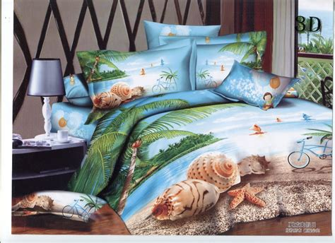 3d hawaiian vacation bedding sets size cotton bed sheet set polyester cotton bed cover - Comforter And Sheet Sets Queen