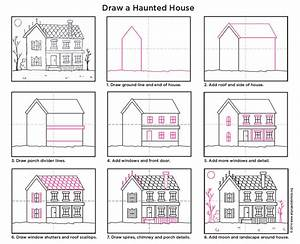 How To Draw A Haunted House  U00b7 Art Projects For Kids