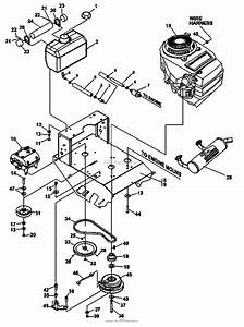 Bunton  Bobcat  Ryan 933006 15hp Kawasaki Kai 36 Classic Pro Parts Diagram For Engine Deck Assembly