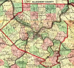 Allegheny County PA Township Map