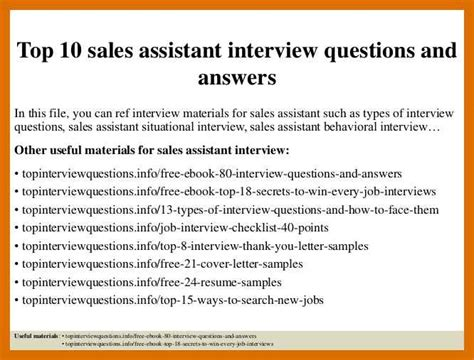 Assistant Questions by 2 3 Top 10 Questions And Answers Formatmemo