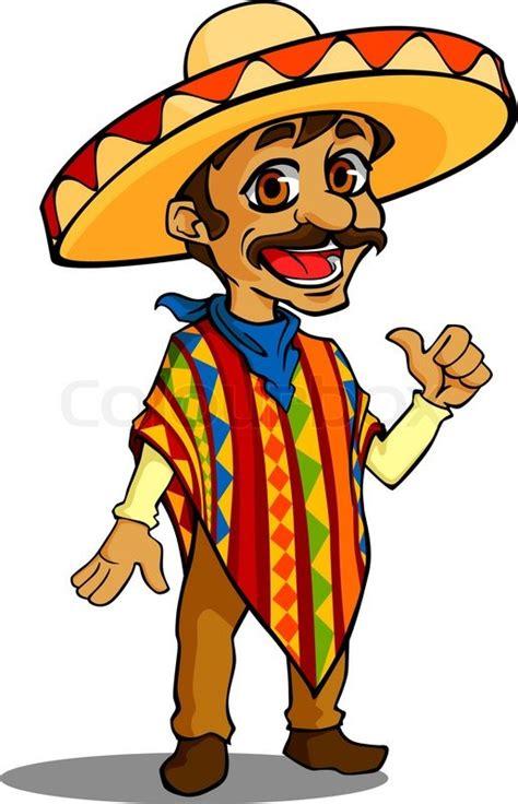 mexican man  cartoon style isolated stock vector colourbox