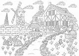 Coloring Pages Adults Adult Scenic Printable Travel Places Landscape Want 30seconds Print Colouring Farm Escape Zentangle Freehand Antistress Sketch Drawing sketch template