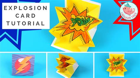 Explosion Card Tutorial  How To Make A Popup Exploding