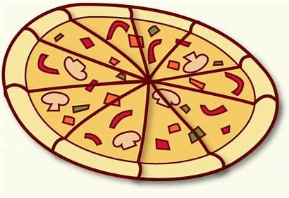 Pizza Cartoon Clipart Pizzas Diamond Plain Cliparts