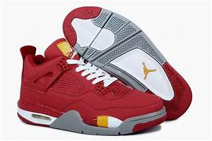 Cheap Retro Jordans 4 Limited Edition Red White Grey ...