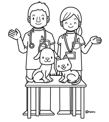 veterinary  coloring pages coloring pages