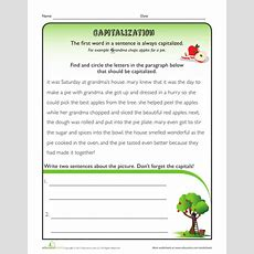 Capitalization Rules Sentences  Grammar  Capitalization Rules, Punctuation Worksheets, Grade