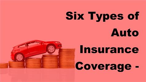 Six Types Of Auto Insurance Coverage 2017 Car Insurance