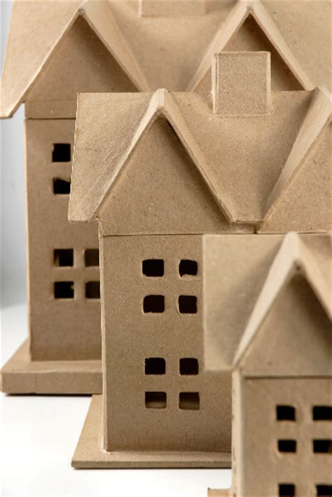 paper mache houses set