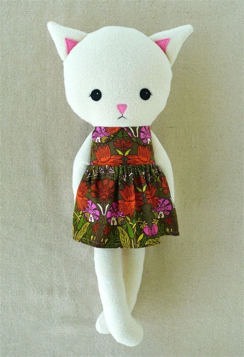 printable rag doll sewing pattern fabric dolls diy