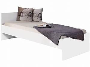 Bett 90 X 200 Weiß : bett lini 90 x 200 einzelbett wei beschichtet ~ Bigdaddyawards.com Haus und Dekorationen