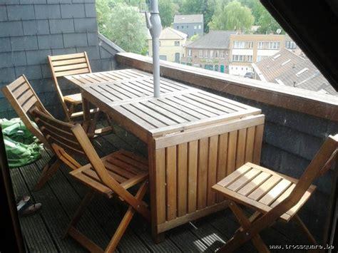 table de jardin en acacia massif 4 chaises ikea uccle