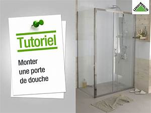 lm videos porte de douche coulissante optc209 leroy merlin With monter une porte coulissante