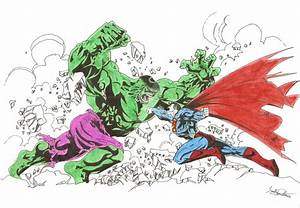 Related Keywords & Suggestions for hulk vs superman drawings