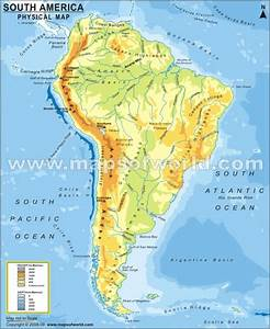 South America Physical Map | Maps | Pinterest | South america