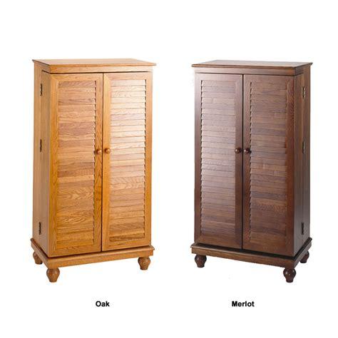 leslie dame louvered mission style multimedia cabinet oak