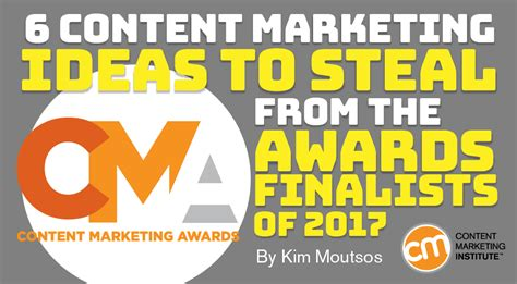 marketing institute content marketing ideas from awards finalists