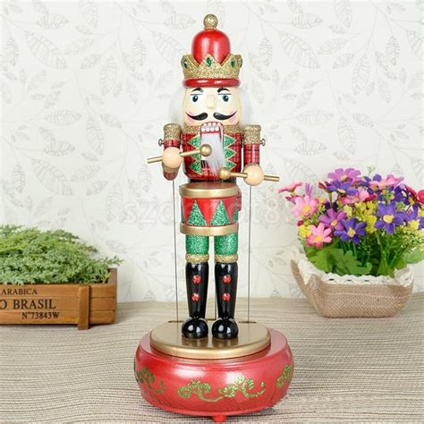 hand painted wooden christmas musical nutcracker wind