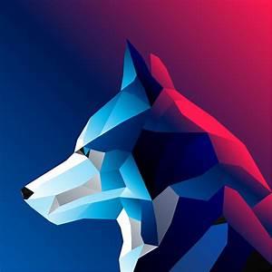 Abstract Dog Vector