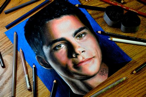 dylan o brien drawings heather rooney art drawing dylan o brien
