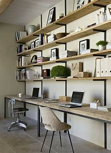 Bureau Bois Brut : diy un bureau industriel tout simple en bois brut et ~ Teatrodelosmanantiales.com Idées de Décoration
