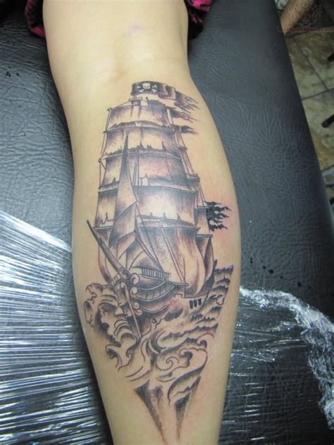 pirate ship tattoo images designs