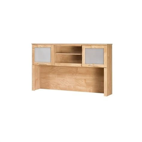 bush somerset desk 60 bush somerset hutch for 60 inch l desk in maple cross