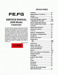 Mitsubishi Fuso 2009 Service Manual
