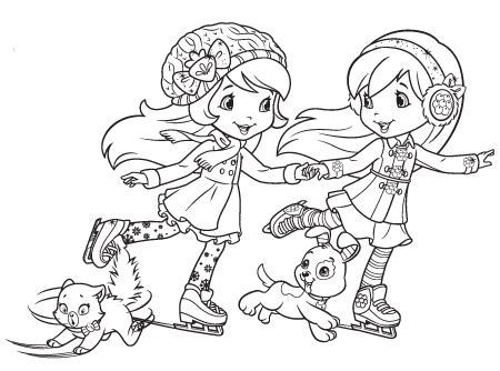 Strawberry Shortcake Characters Coloring Pages - Democraciaejustica