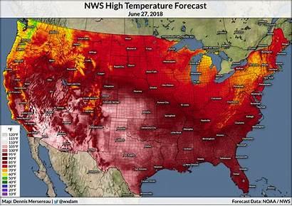 Heat Wave Map June Damweather Oh Going