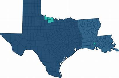 Texas Louisiana Operations County Locations North