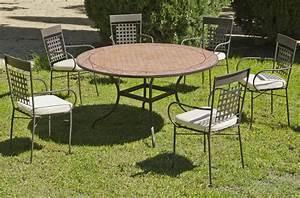 Tables Rondes De Jardin : table ronde de jardin et 6 fauteuils belice vigo ~ Premium-room.com Idées de Décoration