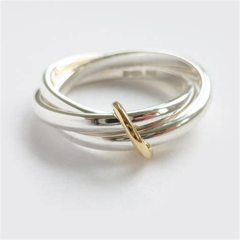 silver ring contemporary russian style