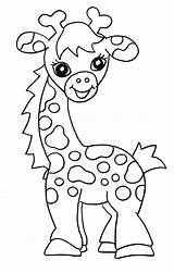 Giraffe Coloring Pages Printable Cute Colour Colouring Giraffes Sheets Sheet Baby Animal Animals Bestcoloringpagesforkids Clip Children Girafe Teenagers sketch template