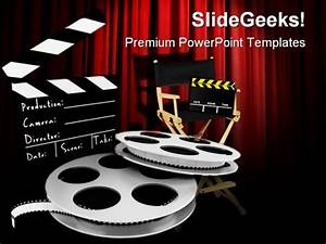 movies director entertainment powerpoint templates and With movie themed powerpoint template