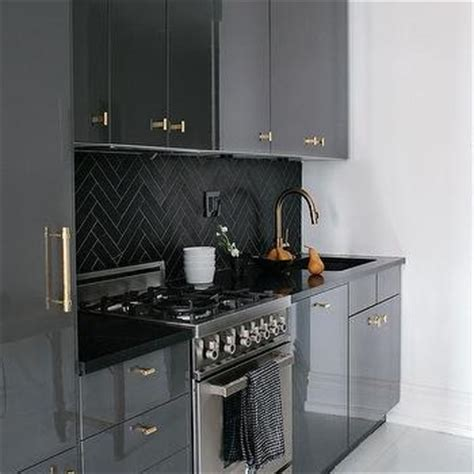 grey lacquer kitchen cabinets black lacquered kitchen cabinets design ideas 4082