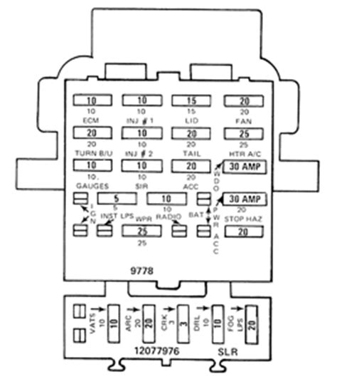 Solved Need Fuse Panel Diagram For Camaro Fixya