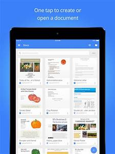 Google docs app gets updated with ipad pro support word for Google docs app support