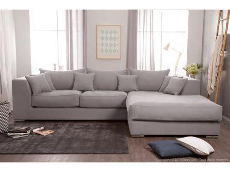 canapé d angle grande profondeur canapé d 39 angle en coton et avec grande méridienne
