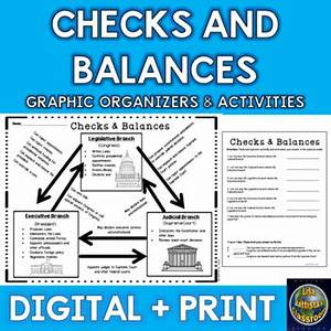 Checks And Balances Chart And Activities By Battista