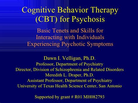 cognitive behavior therapy cbt  psychosis
